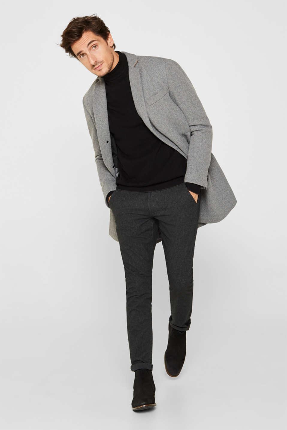 Wool blend: Padded coat, GREY 5, detail image number 1