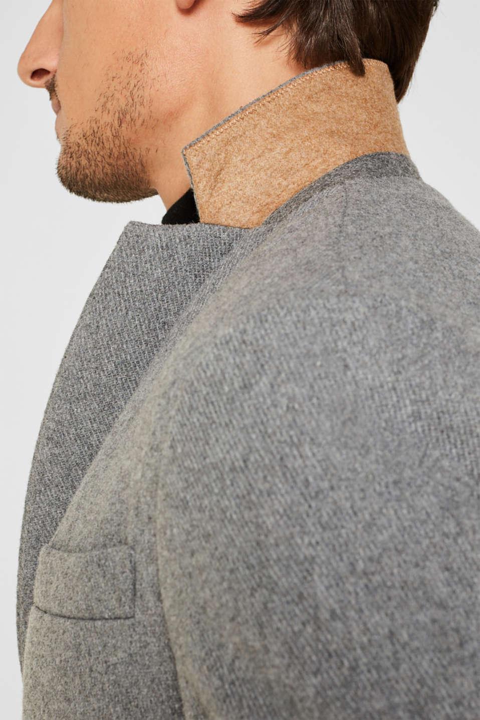 Wool blend: Padded coat, GREY 5, detail image number 2