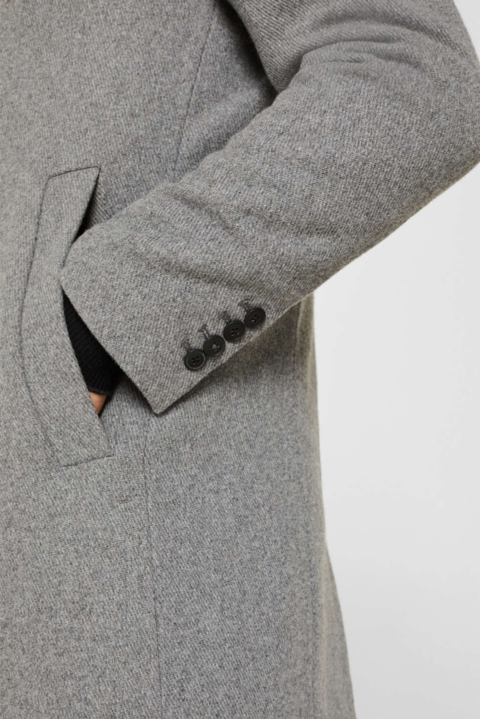 Coats woven, GREY 5, detail image number 6