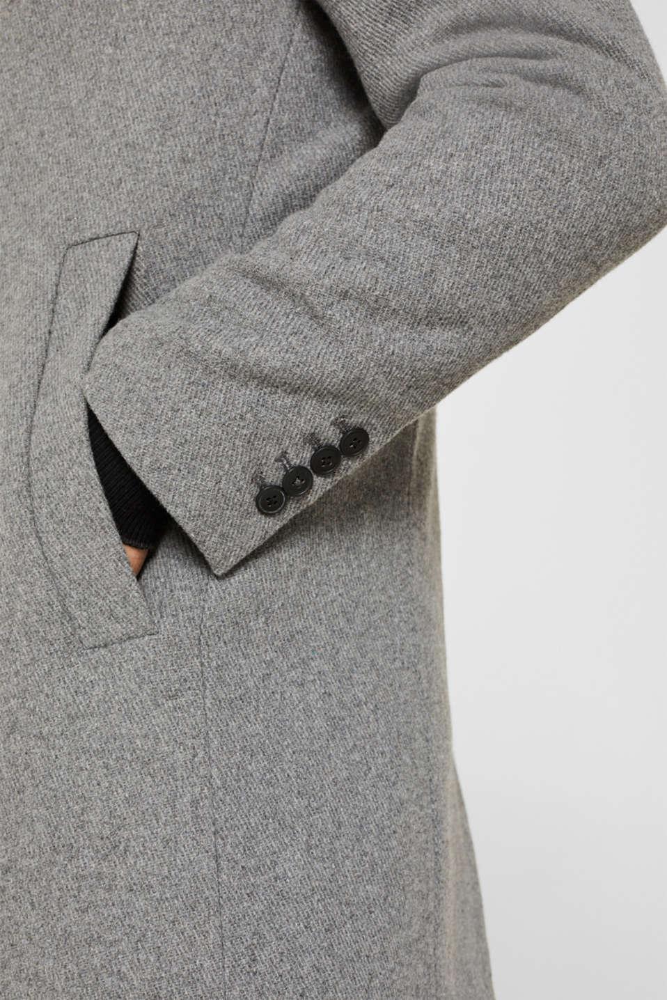 Wool blend: Padded coat, GREY 5, detail image number 6