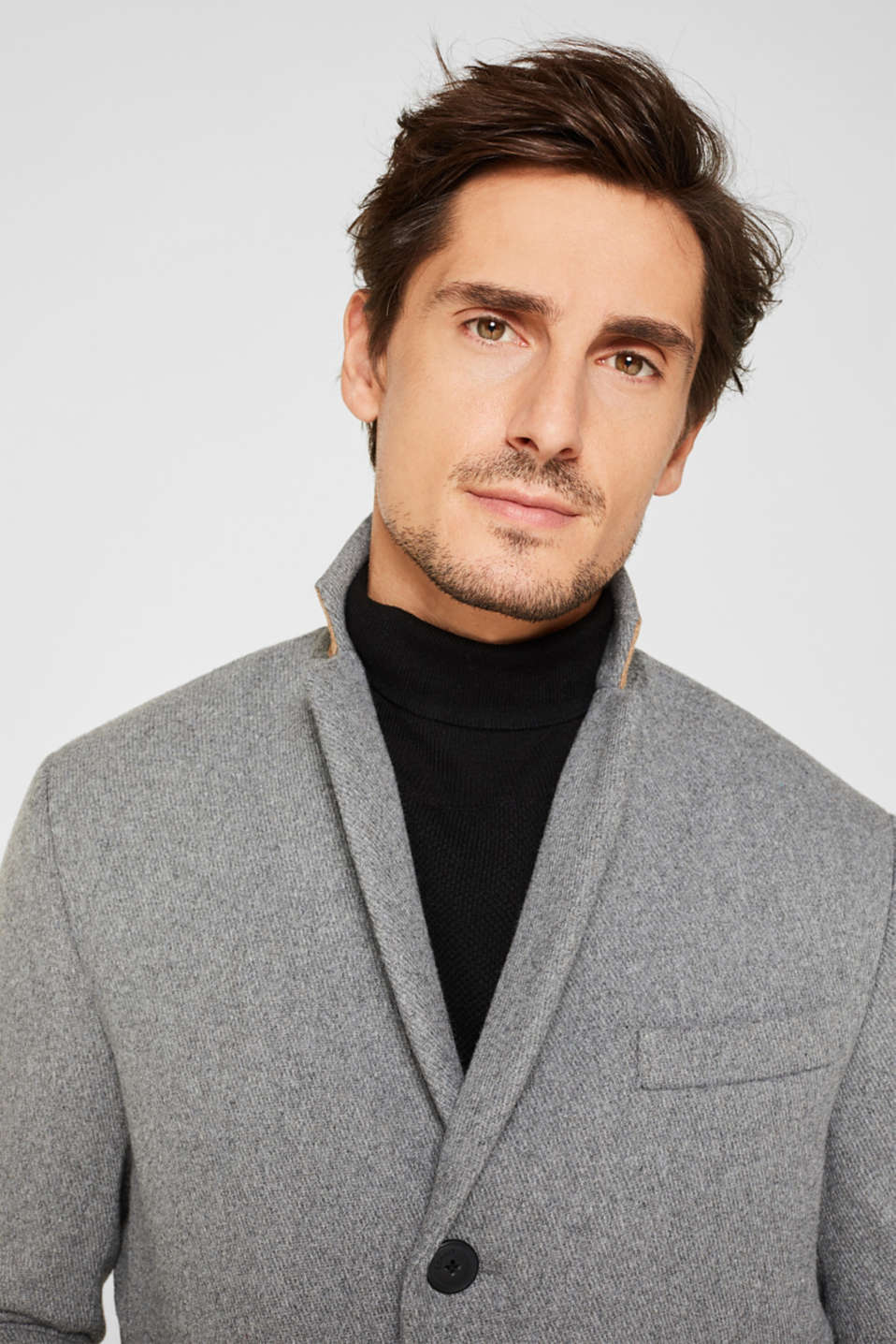 Wool blend: Padded coat, GREY 5, detail image number 5