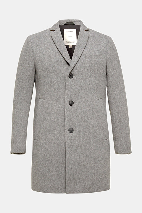 Wool blend: Padded coat