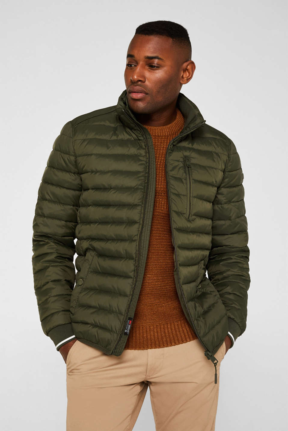 Jackets outdoor woven, KHAKI GREEN, detail image number 4