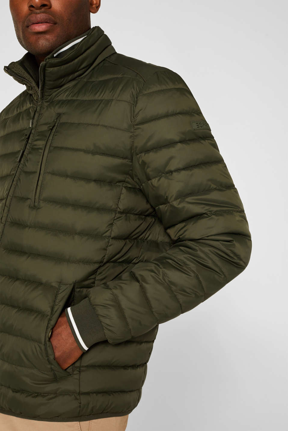 Jackets outdoor woven, KHAKI GREEN, detail image number 2