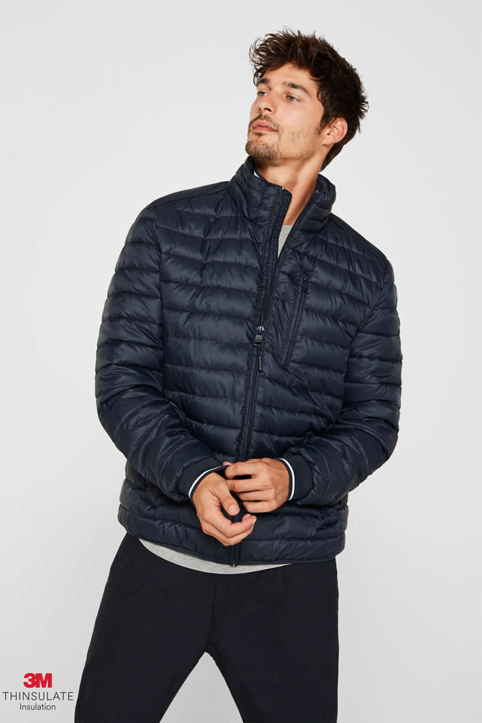 Esprit - Quilted jacket with 3M™ Thinsulate™ filling