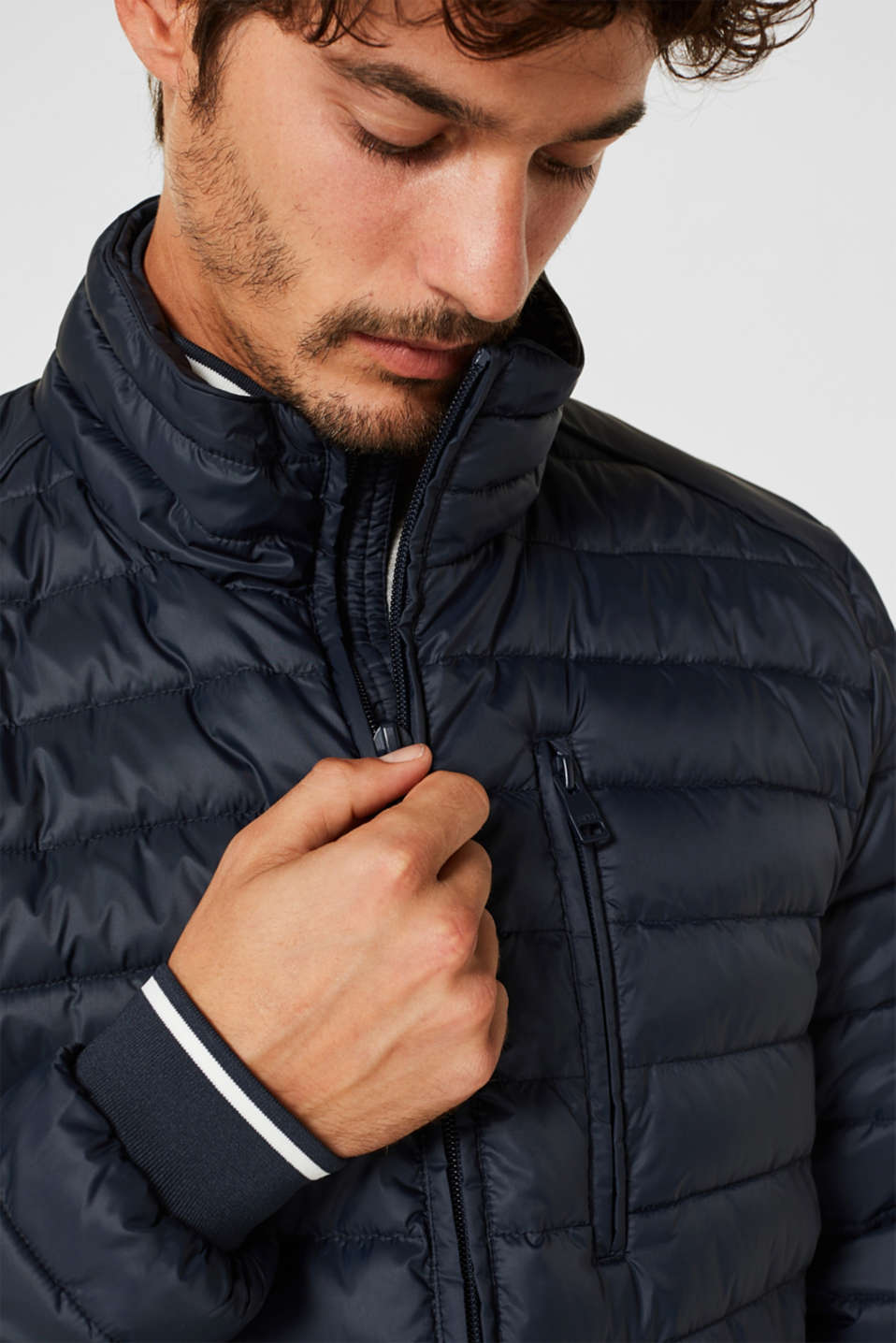 Jackets outdoor woven, DARK BLUE, detail image number 2