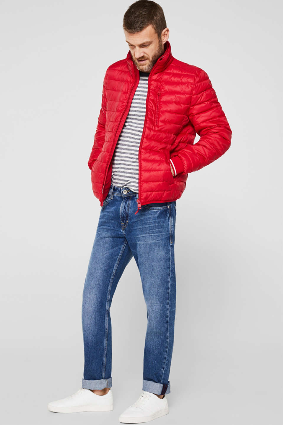 Jackets outdoor woven, RED, detail image number 1