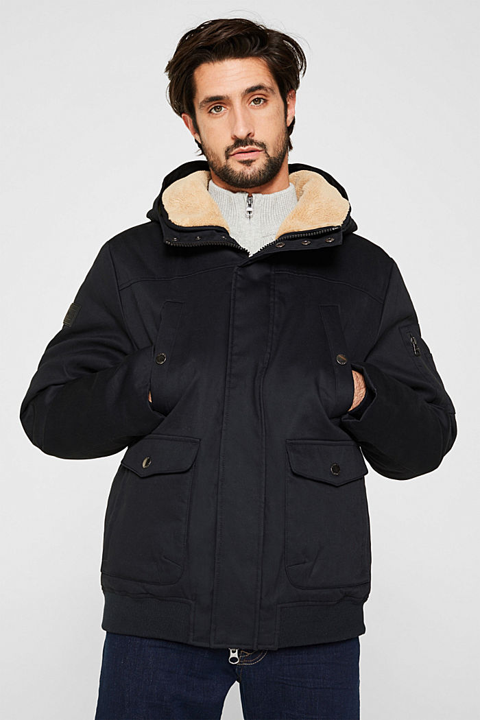 Winter jacket with 3M™ Thinsulate™ filling, BLACK, detail image number 0