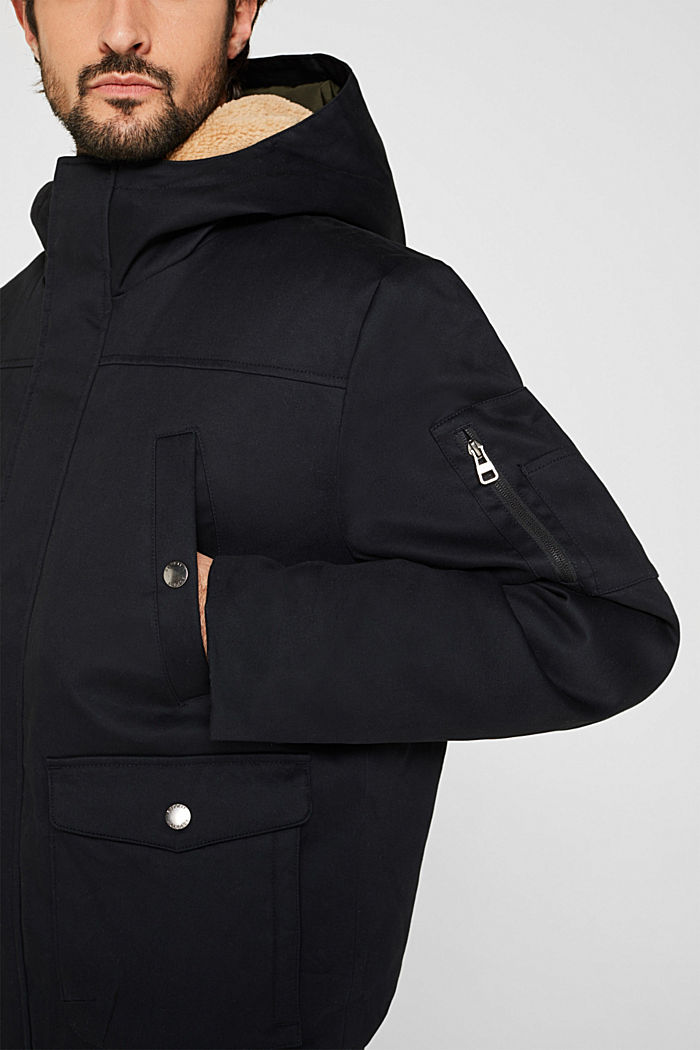 Winter jacket with 3M™ Thinsulate™ filling, BLACK, detail image number 4