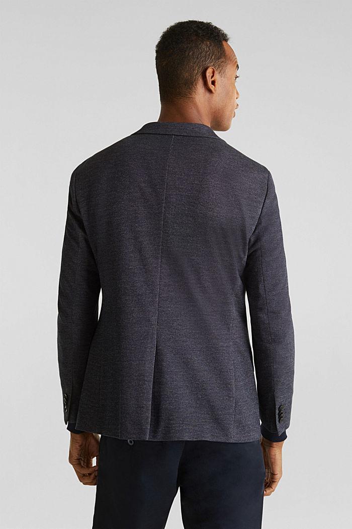 Jersey blazer van een katoenmix, DARK BLUE, detail image number 3