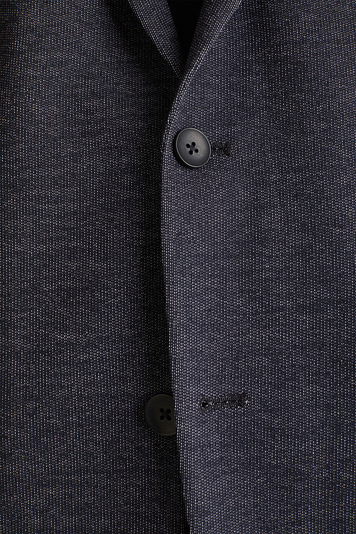 Jersey blazer van een katoenmix, DARK BLUE, detail image number 4