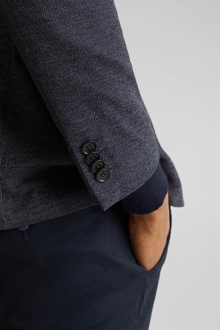Jersey blazer van een katoenmix, DARK BLUE, detail image number 5