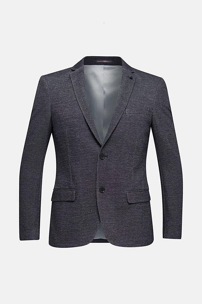 Jersey-Blazer aus Baumwoll-Mix