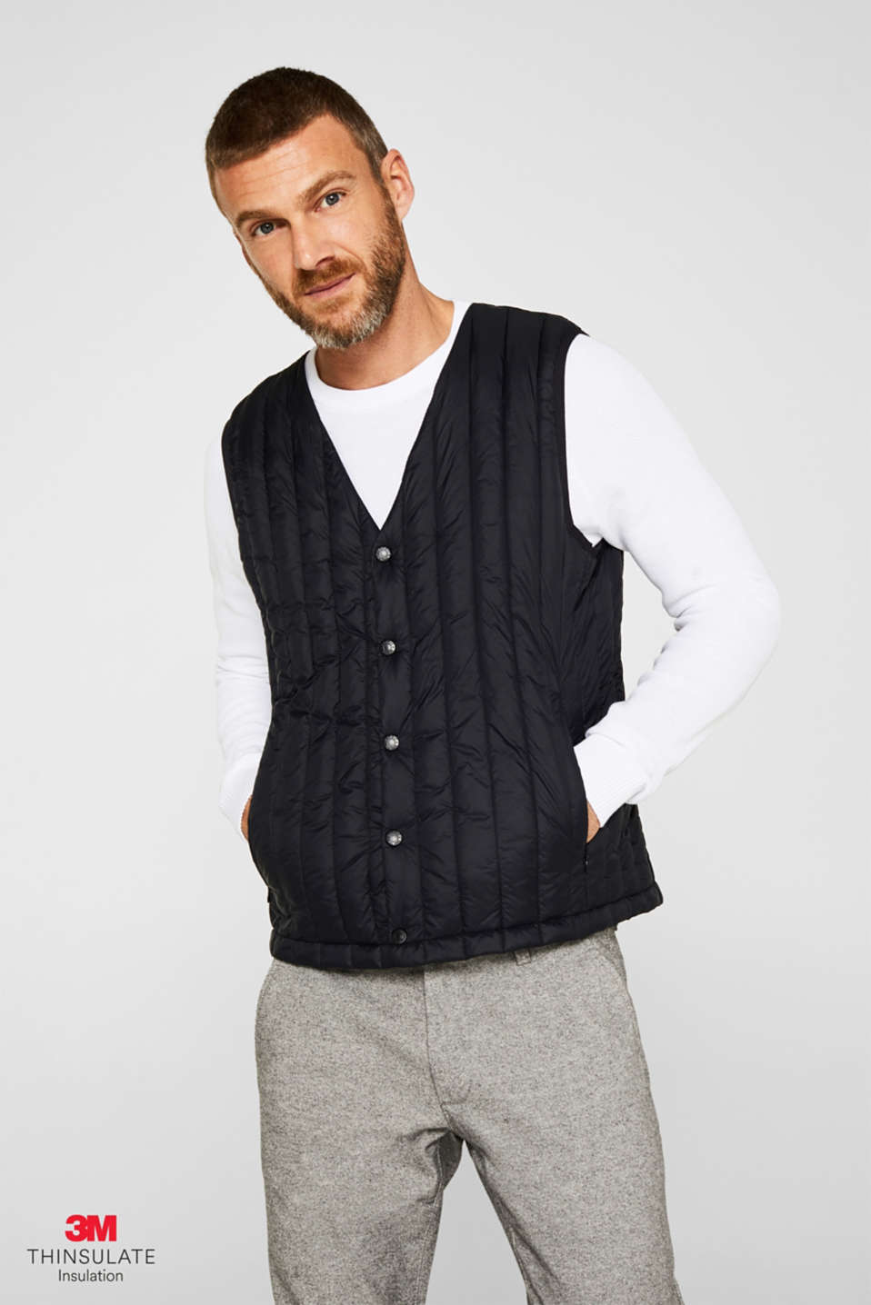 Quilted body warmer with 3M® Thinsulate® padding