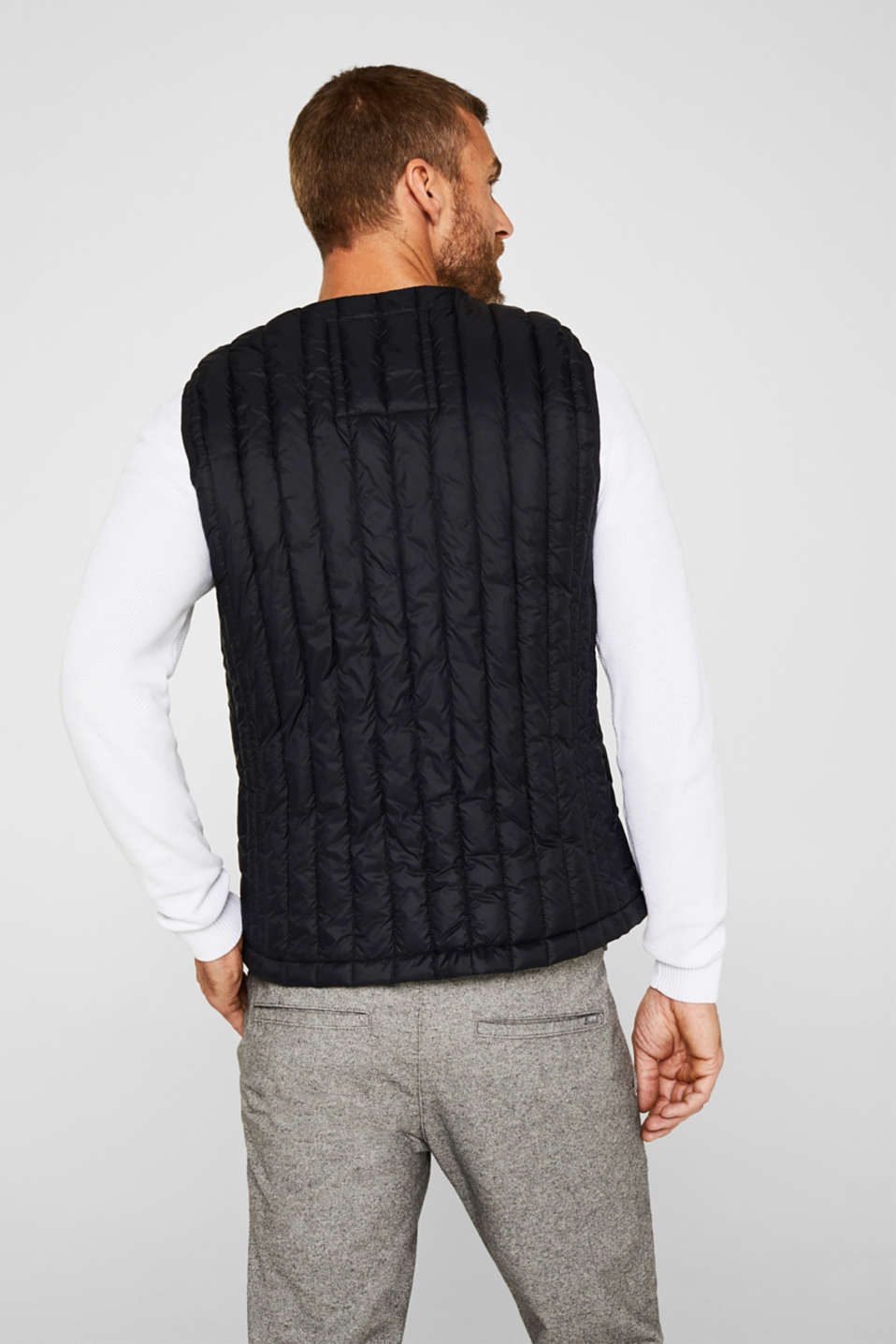 Quilted body warmer with 3M™ Thinsulate™ padding, BLACK, detail image number 3