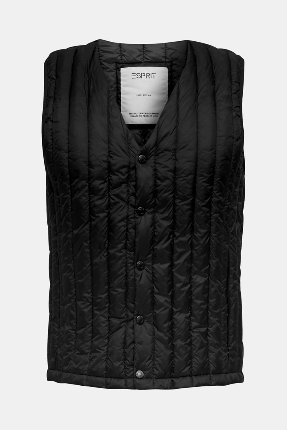 Quilted body warmer with 3M™ Thinsulate™ padding, BLACK, detail image number 6