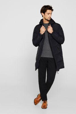 Cashmere blend: textured knit jumper, DARK GREY 5, detail