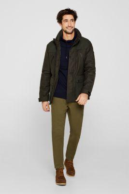 Sweatshirt with a drawstring collar, 100% cotton, NAVY 5, detail