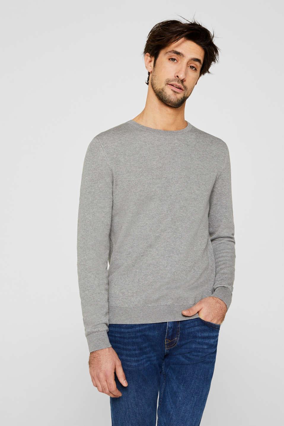 100% cotton jumper, MEDIUM GREY 5, detail image number 0