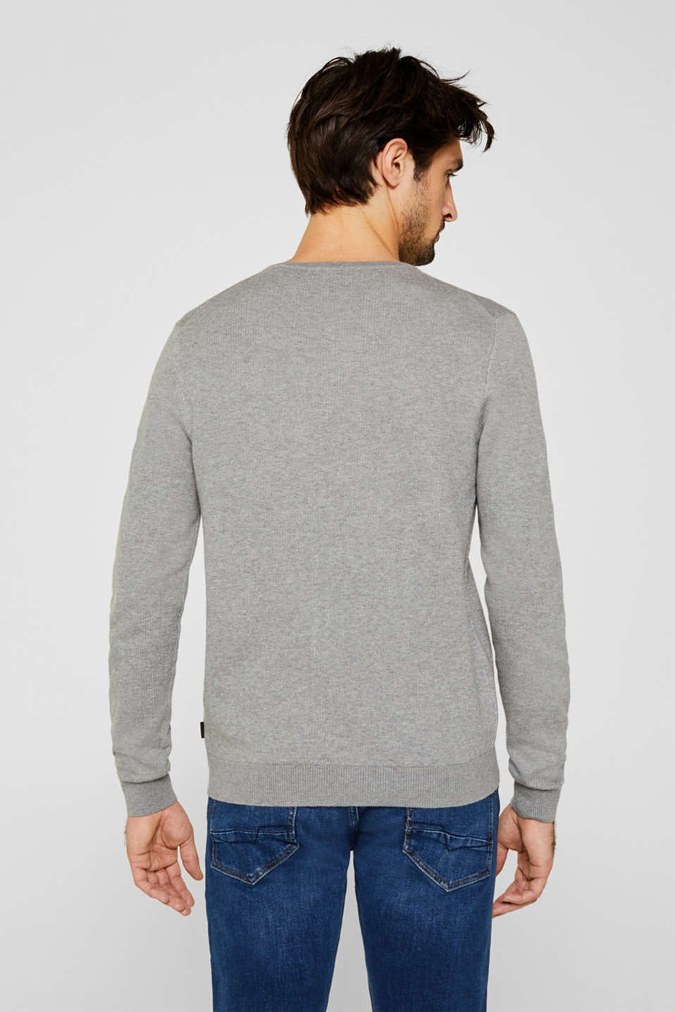 100% cotton jumper, MEDIUM GREY 5, detail image number 3