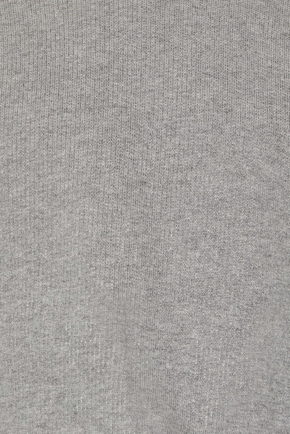 100% cotton jumper, MEDIUM GREY 5, detail image number 4