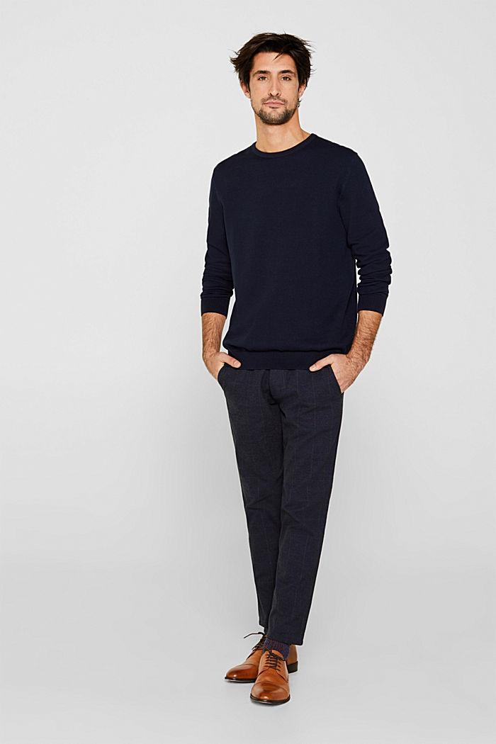 100% cotton jumper, NAVY, detail image number 5