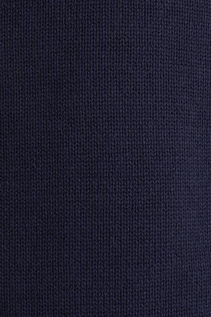Trui van gestructureerd breisel, 100% katoen, NAVY, detail image number 4