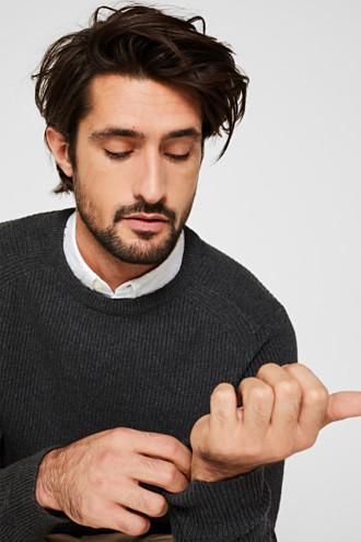 Wool blend: jumper knit in rib stitch