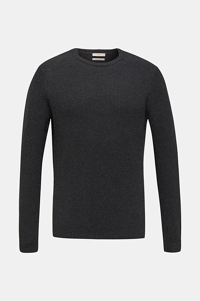Wool blend: jumper knit in rib stitch