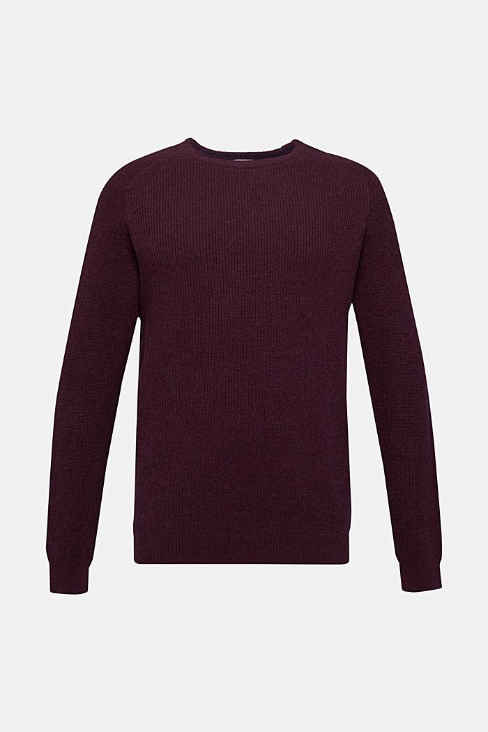 Mit Wolle: Pullover aus Rippenstrick