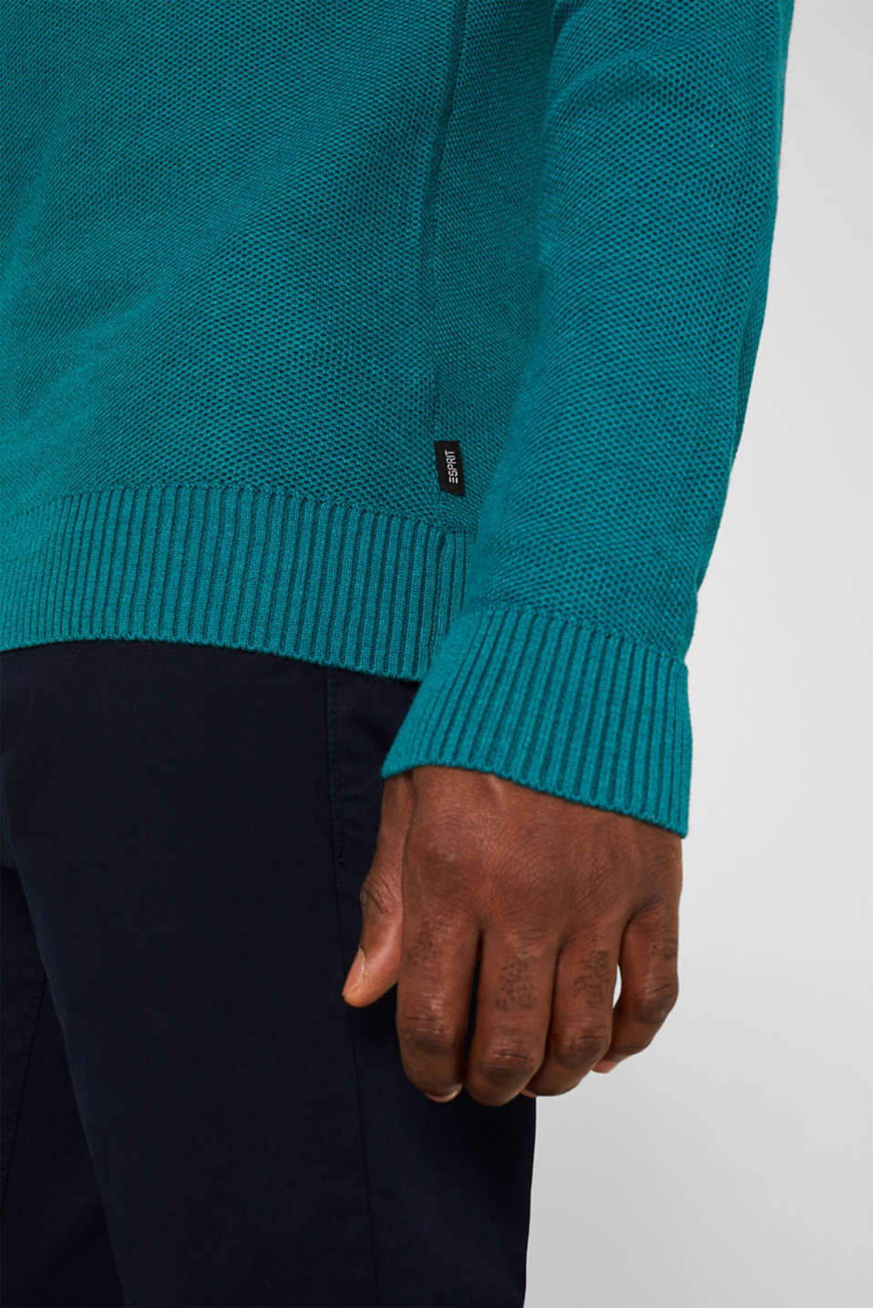 Sweaters, TEAL BLUE 5, detail image number 2
