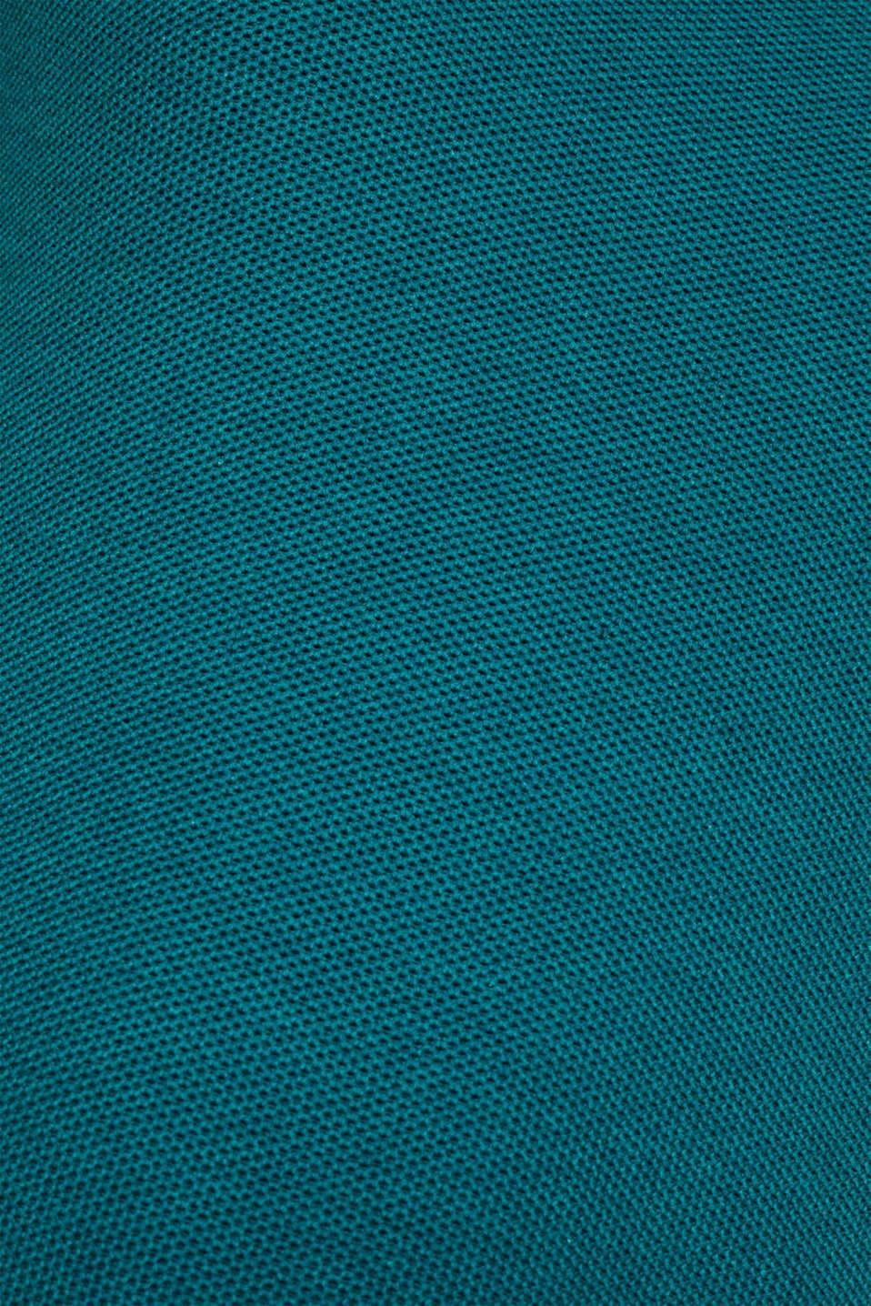 Textured jumper made of 100% cotton, TEAL BLUE 5, detail image number 4