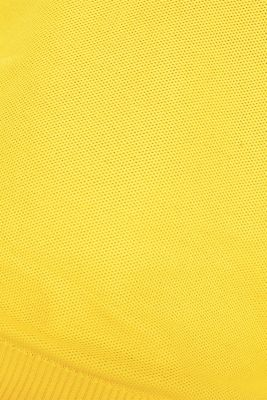 Textured jumper made of 100% cotton, YELLOW, detail
