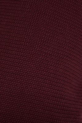 Textured jumper made of 100% cotton, BORDEAUX RED 5, detail