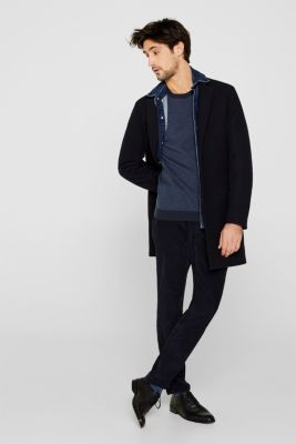 Jacquard jumper made of 100% cotton, NAVY 4, detail