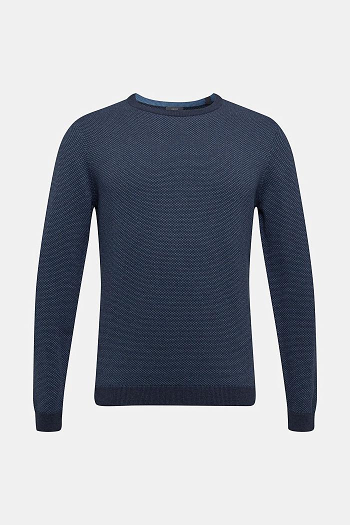 Jacquard jumper made of 100% cotton, NAVY 4, detail image number 0