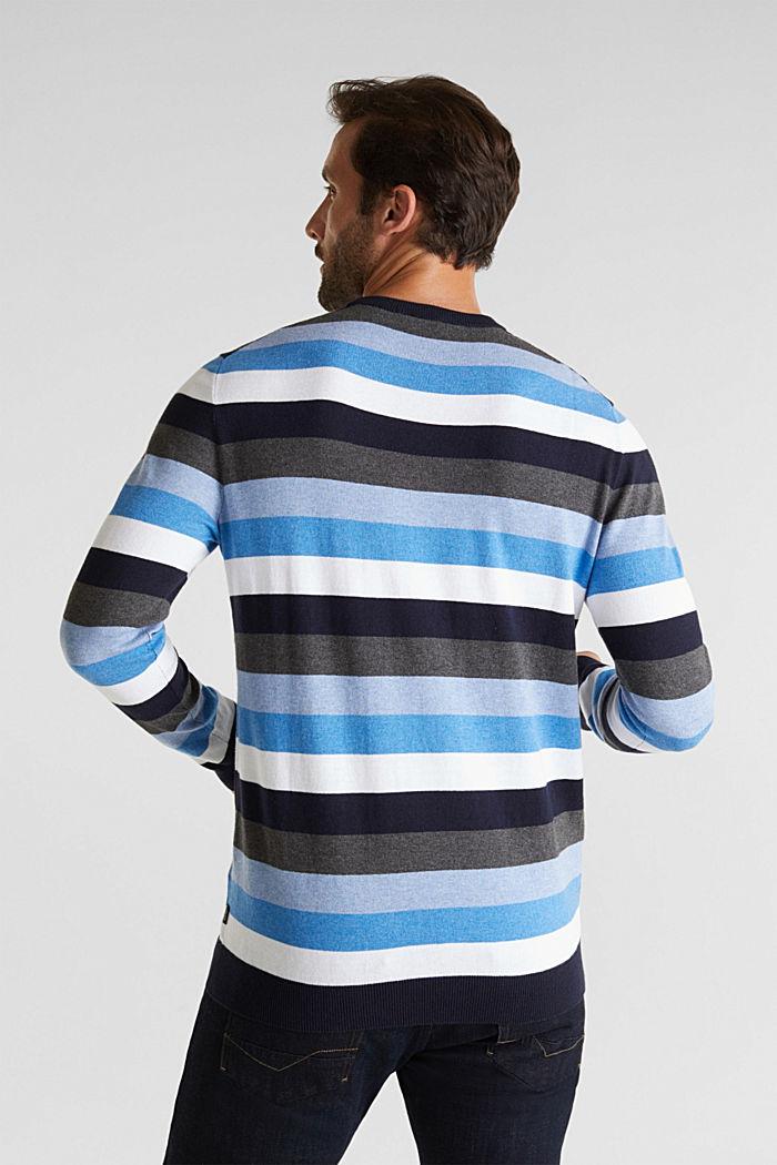 Gestreifter Pullover, 100% Baumwolle, BRIGHT BLUE, detail image number 3