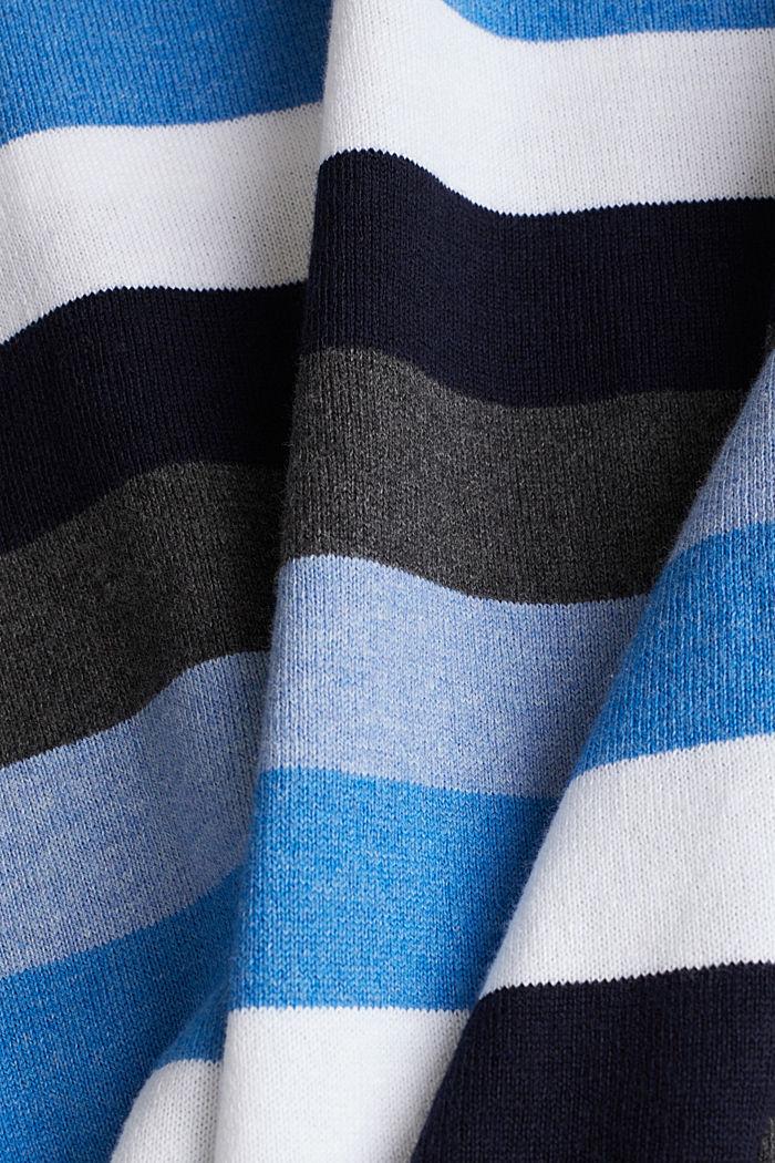 Gestreifter Pullover, 100% Baumwolle, BRIGHT BLUE, detail image number 4