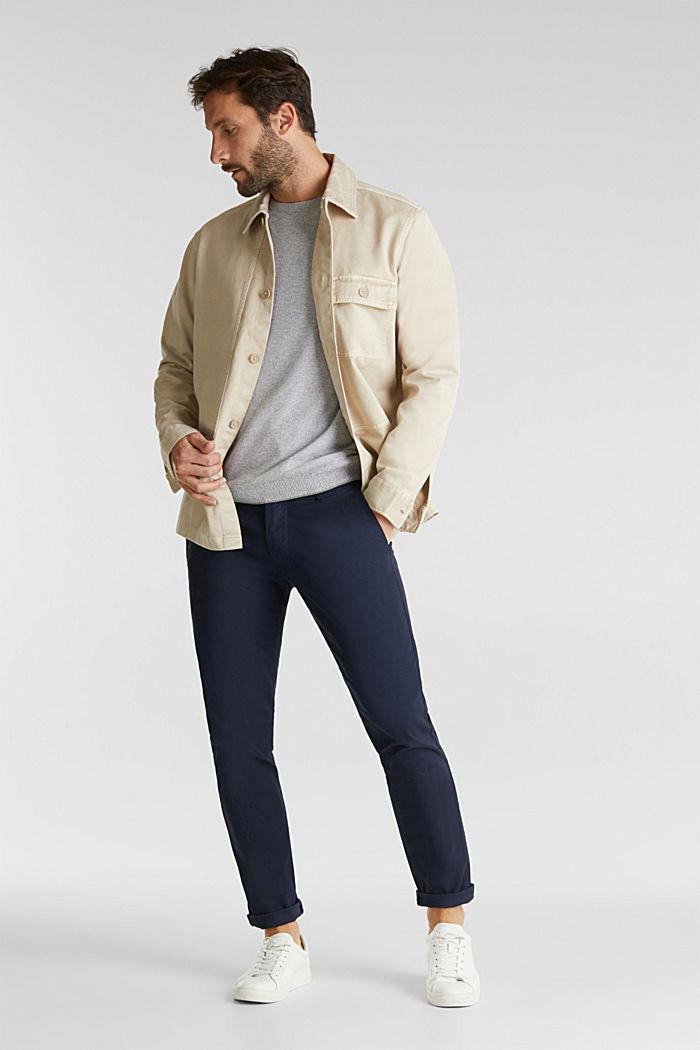 100% cotton jumper, GREY, detail image number 1