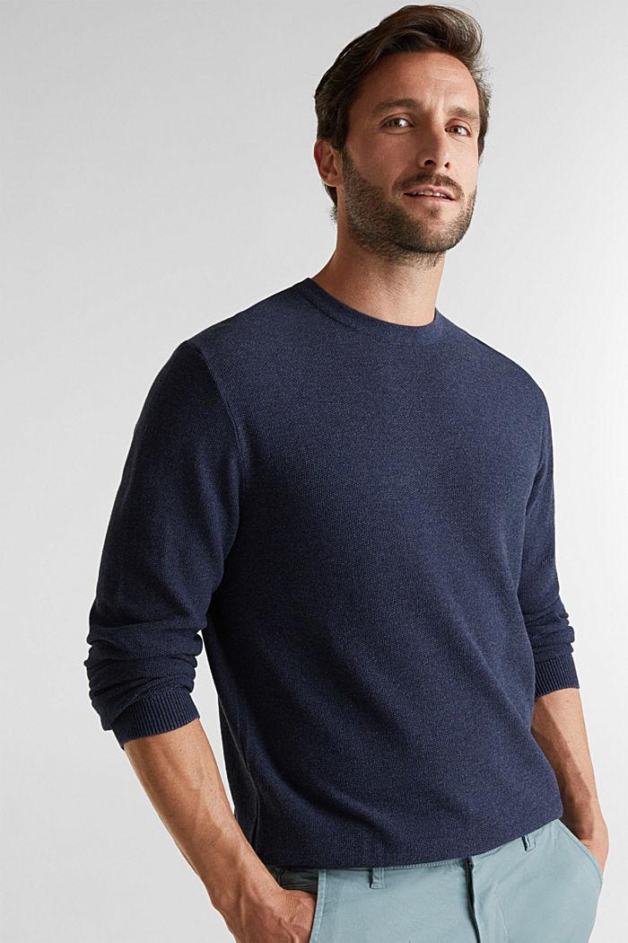 100% cotton jumper, NAVY, detail image number 0