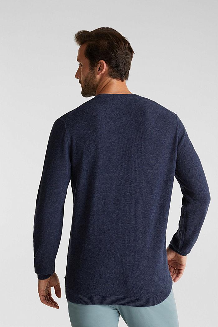 100% cotton jumper, NAVY, detail image number 3