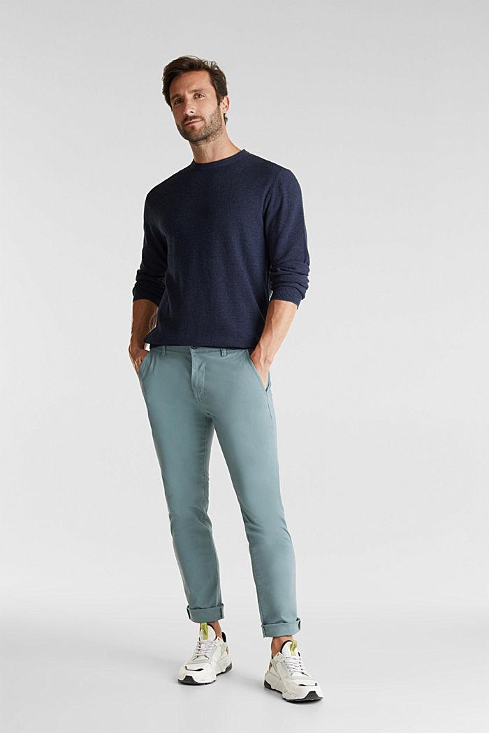 100% cotton jumper, NAVY, detail image number 1