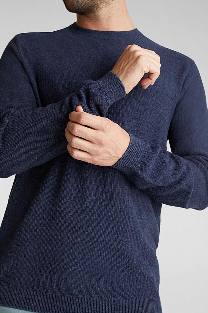 100% cotton jumper, NAVY, detail image number 2