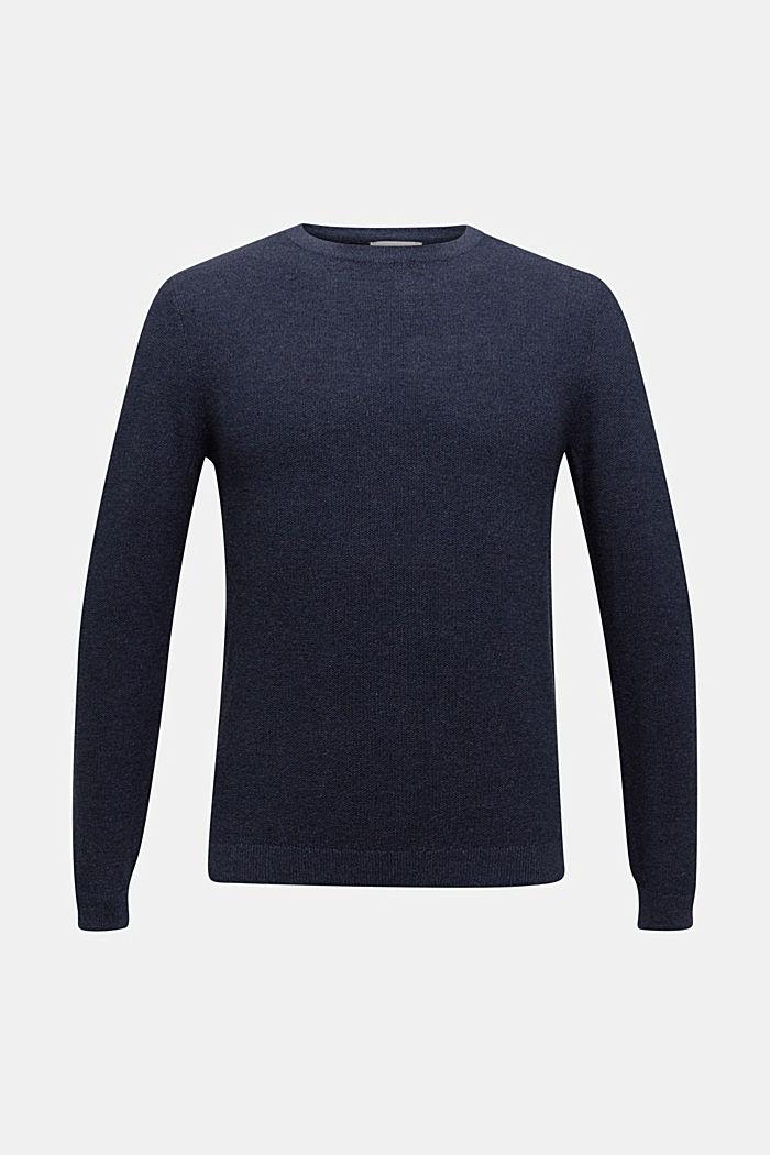 100% cotton jumper, NAVY, detail image number 6