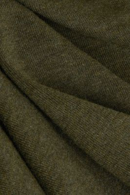 Mid-length zip jumper made of 100% cotton, DARK GREEN 5, detail