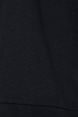 Sweatshirt cardigan with hood, 100% cotton, BLACK, detail