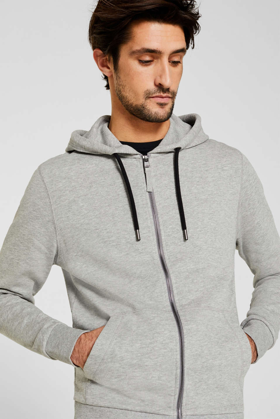 Esprit - Sweat-Cardigan mit Kapuze