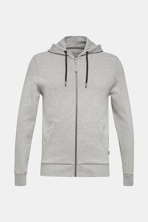 Hooded sweatshirt cardigan