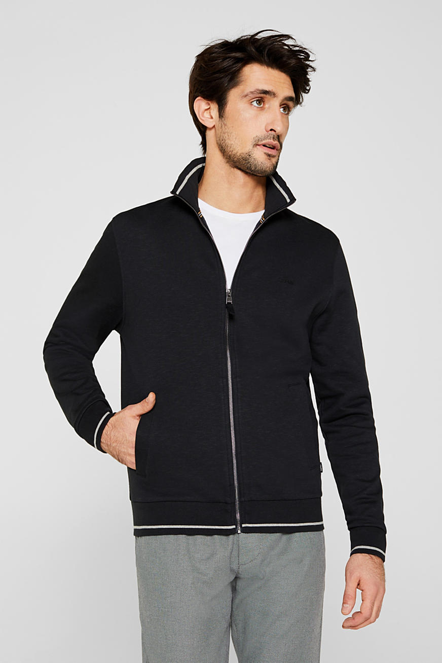 Sweat-Cardigan aus 100% Baumwolle