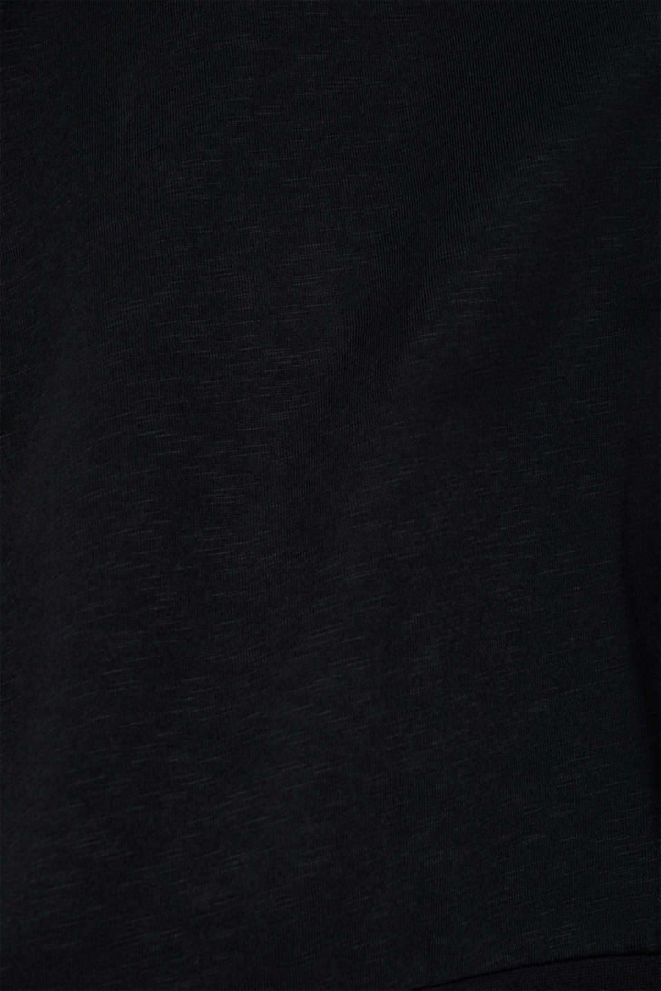 Sweatshirt cardigan in 100% cotton, BLACK, detail image number 4